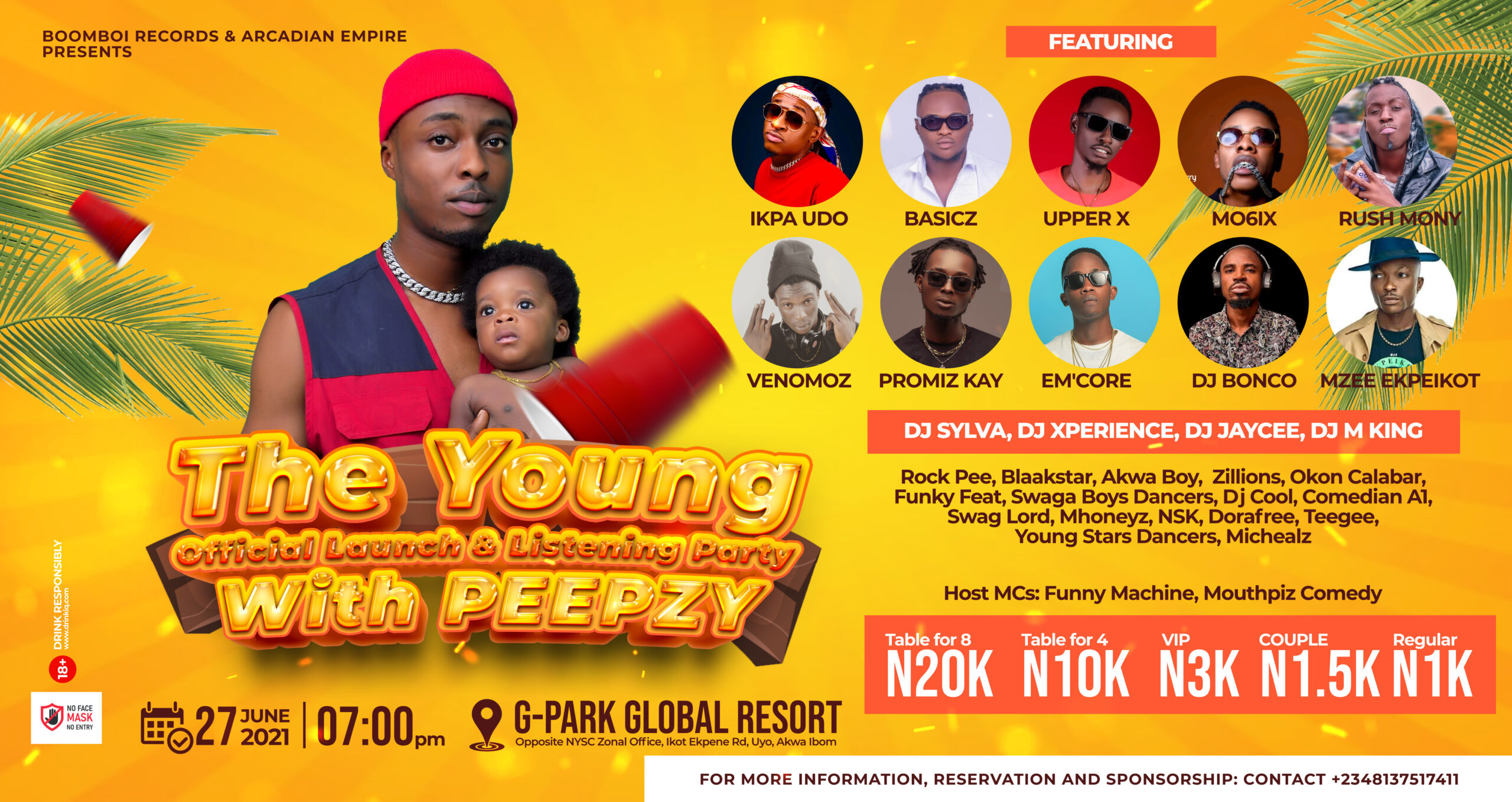 The Young Official Launch & Listening Party With Peepzy